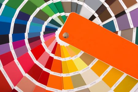 ral: expanded fan of color samples Stock Photo