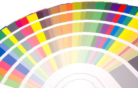 ral: expanded fan of colors and tones samples Stock Photo