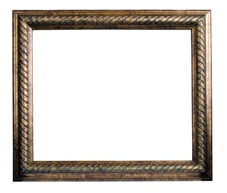 bronze antique frame isolated on white Stock Photo - 4574907