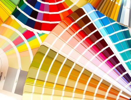 élargi les fans de la couleur des échantillons guides