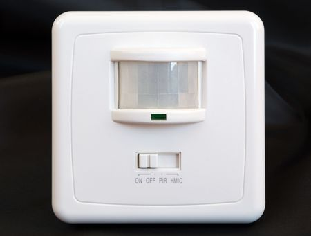 movement and sound indoor sensor for automatic switching of light Stock Photo
