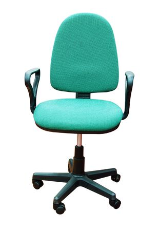 green office chair isolated on white Stock Photo - 5193480