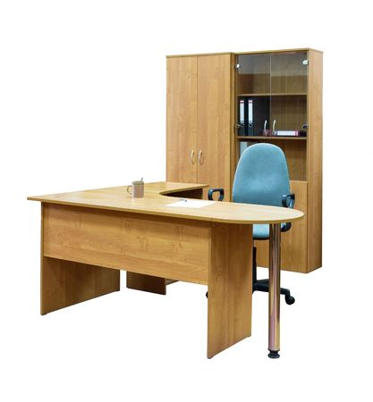 office cabinet: Office furniture isolated on white