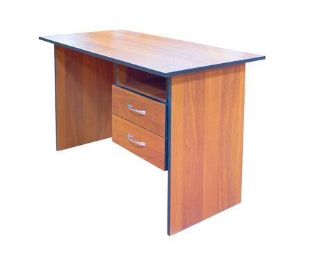 wood desk isolated on white Stock Photo - 5193481
