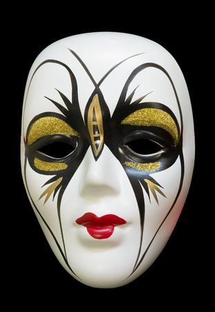 Venetian carnival mask isolated on black Stock Photo - 5447004