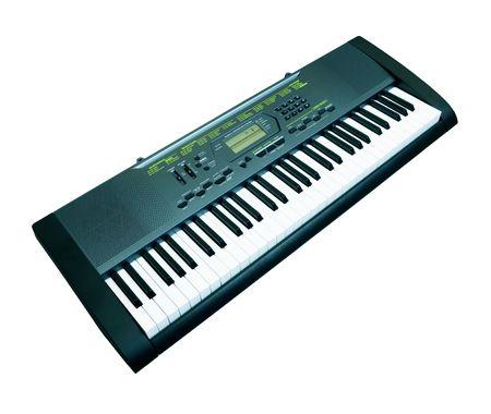 midi: Digital midi keyboard isolated on white