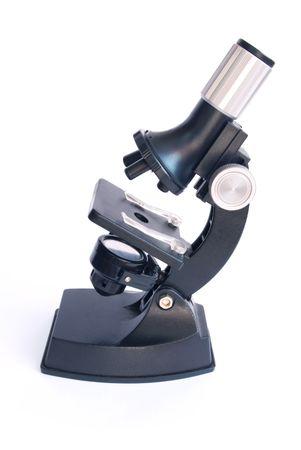 School microscope isolated on white Stock Photo - 5549832