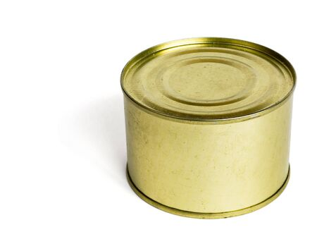 Old tin isolated on white Stock Photo - 5557164