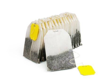 Tea bags isolated on white  photo