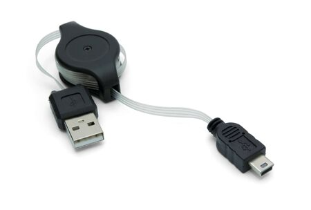 usb - micro usb cable isolated on white Stock Photo - 6394531