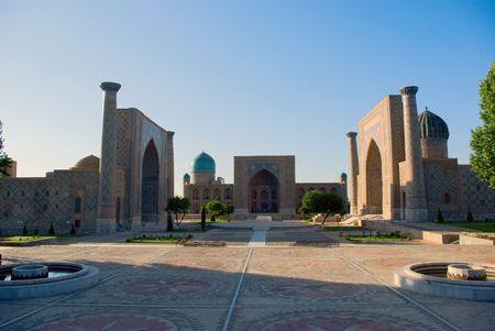 Historical square Registan  in Samarkand. Uzbekistan. Stock Photo - 7098810