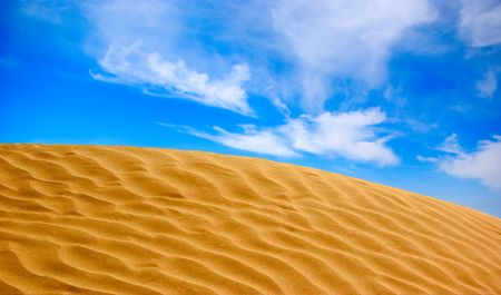 The sand dune in desert landscape photo