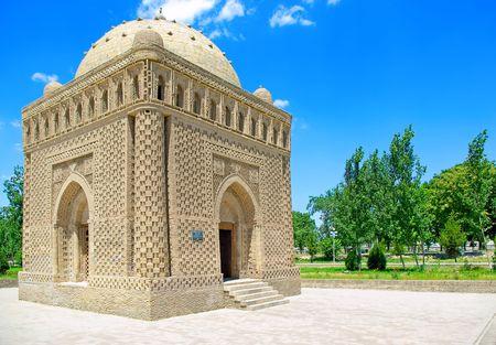 uzbekistan: Ismail Samani mausoleum (892 - 943) in Bukhara, Uzbekistan. Stock Photo