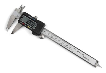Electronic digital vernier caliper isolated on white  Stock Photo - 8214038