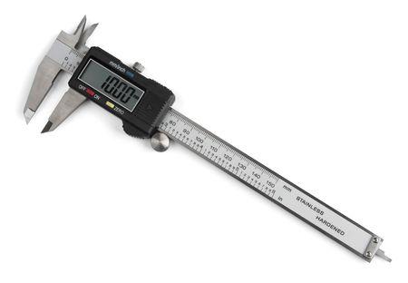 Electronic digital vernier caliper isolated on white Stock Photo - 8214038