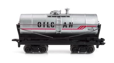 Toy railway tank isolated on white Stock Photo - 8564177