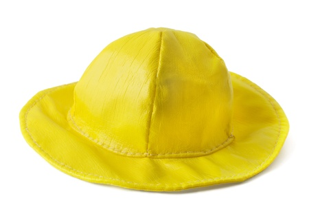 Kid's summer yellow hat isolated on white