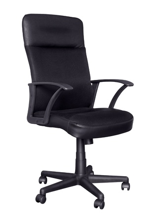Black ergonomic office chair isolated isolated on white Stock Photo - 8861300