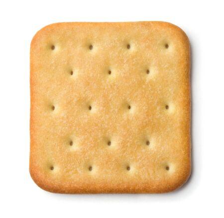 Saltine soda cracker isolated on white Stock Photo - 8962099