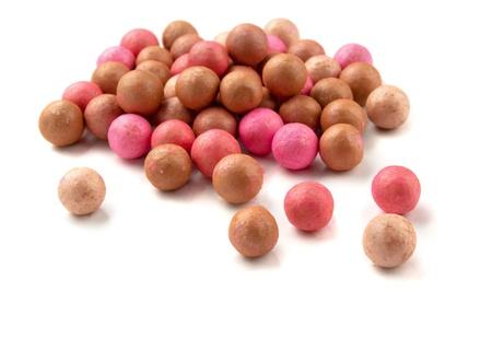 Cosmetics blush ball isolated on white Stock Photo - 9009897