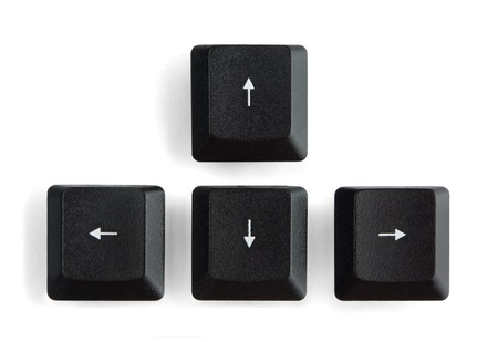Black computer arrow keys isolated on white Stock Photo - 9158695