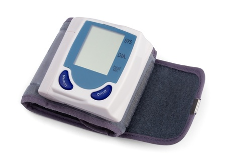 Automatic digital blood pressure monitor isolated on white Stock Photo - 9402546