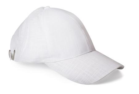 baseball cap: White baseball cap isolated on white