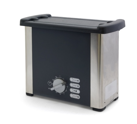 ultrasonic: Ultrasonic cleaner - device to clean jewellery, lenses, watches, dental and surgical instruments,  industrial and electronic parts.