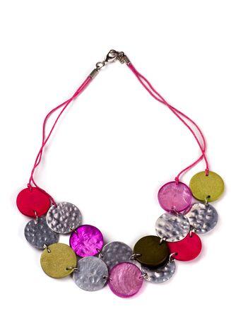 Eastern ethnic necklace isolated on white Stock Photo - 10255758