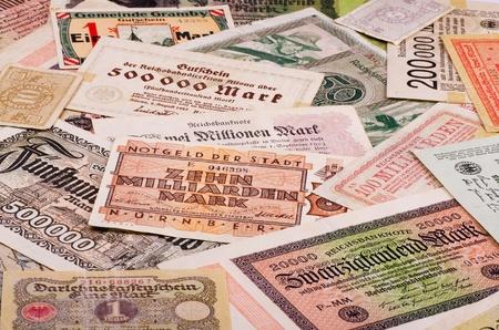 Old German notes (Emergency money or notgeld) photo