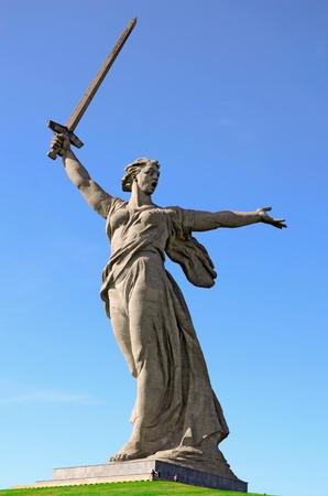 world war ii: World War II memorial Motherland Calls, Volgograd, Russia