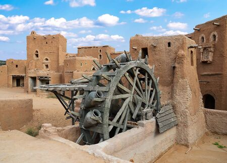 Ancient wheel well in the medieval Mongolian capital Sarai-Batu Stock Photo - 10938486