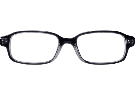 nerd glasses: Classic style reading glasses isolated on white
