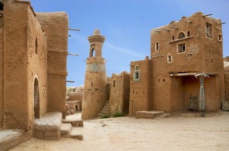 middle eastern: Sarai-Batu - reconstruction of capital city of Golden Horde Stock Photo