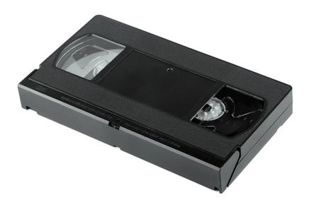 vhs videotape: Vhs video cassette tape isolated on white