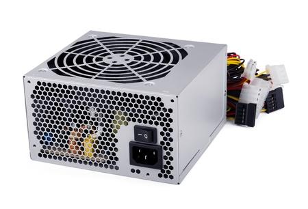 energia electrica: Potencia de los ordenadores de estas unidades aisladas en blanco