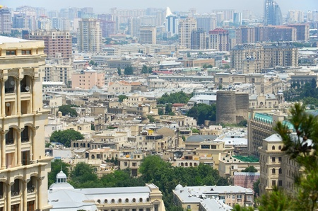 azerbaijan: View of Baku city - capital of Azerbaijan Stock Photo