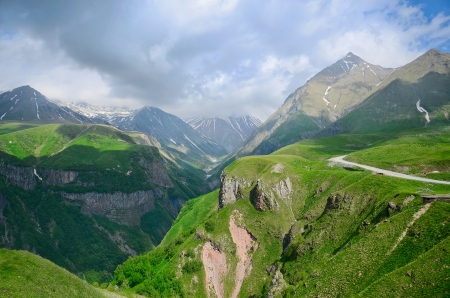 Caucasus mountains. Georgian Military Road. Georgia  photo