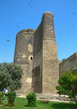 azerbaijan:  Maiden Tower  in the Old City. Baku. Azerbaijan.