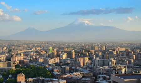 armenia: Armenia. City view of Yerevan and Ararat mountain.