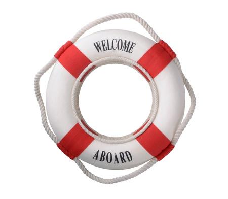 White life buoy  photo