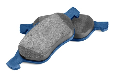 Pair of new brake pads isolated on white Stock Photo - 15137627
