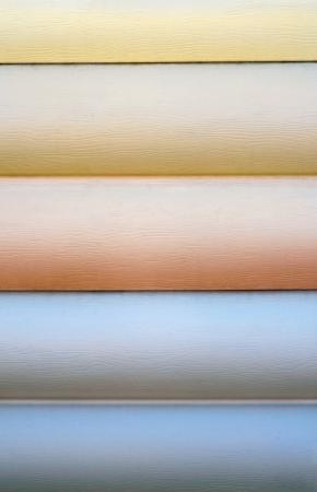 Close up of vinyl siding samples photo