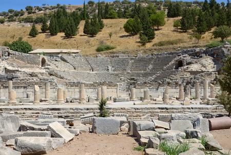Ruins of ancient odeon (small theatre) in Ephesus. Turkey. photo