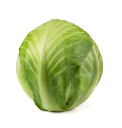 Green cabbage isolated on white Stock Photo - 15791122