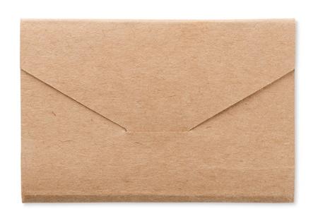 manila: Rough brown envelope isolated on white