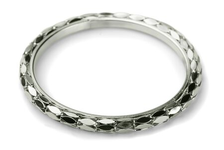 Modern metal bracelet isolated on white Stock Photo - 17379065