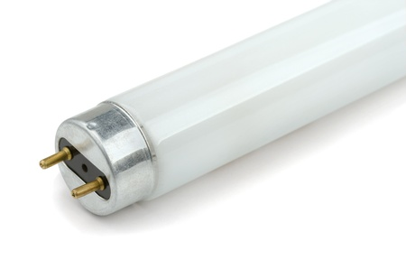 Colse-up of fluorescent light tube on white background Stock Photo - 18590734