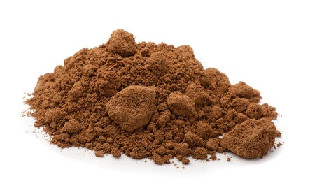 clay craft: Pile of brown raw clay isolated on white