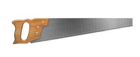 silver cross: Crosscut saw isolated on white